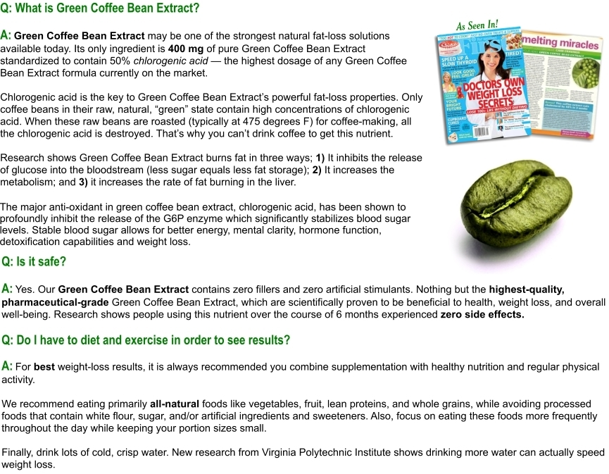 Green Coffee Bean Extract 100 Pure Standardized To 50